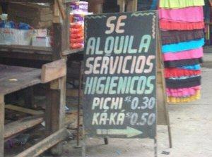 latin_ tarifa de servicios higienicos