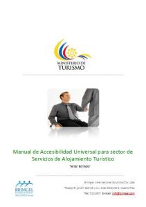 Manual accesible universal Hoteles